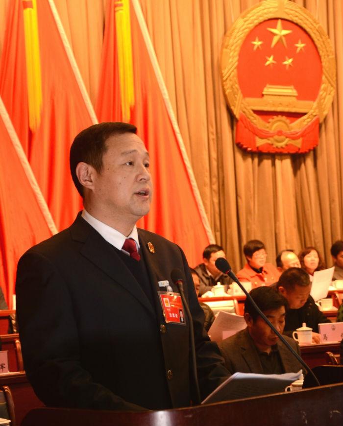 田勇院长在洪湖市第七届人民代表大会上作报告